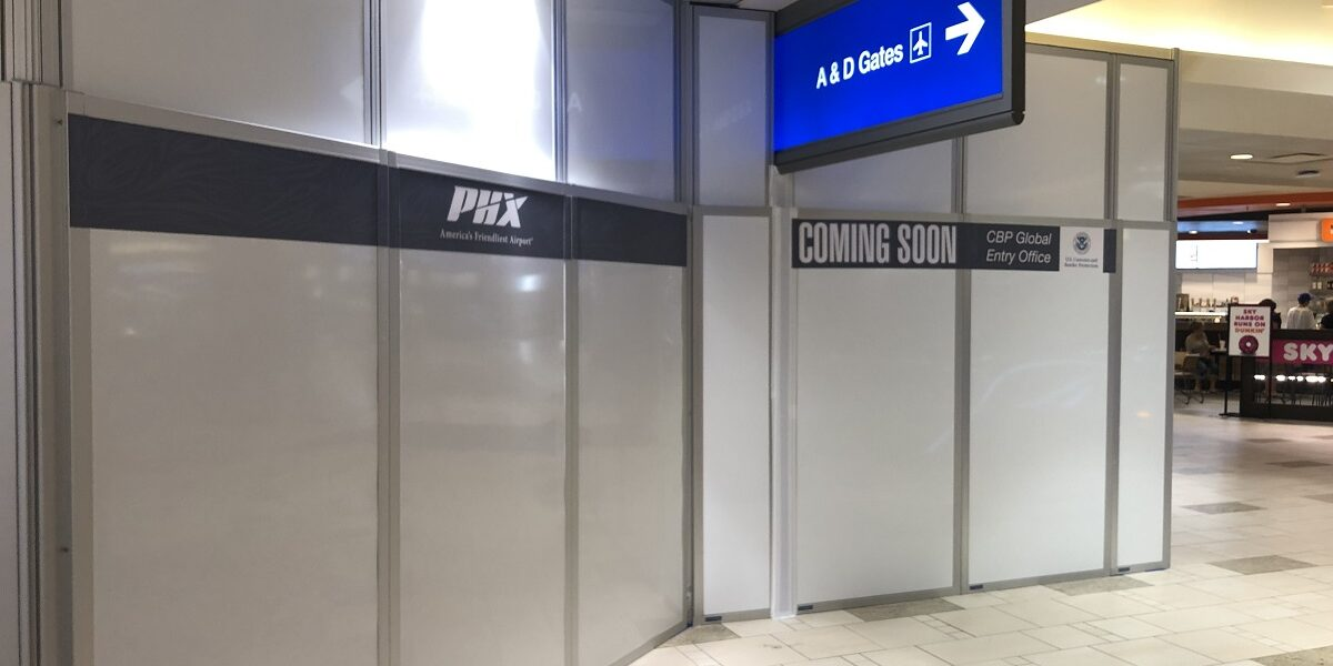 temporary walls in airport