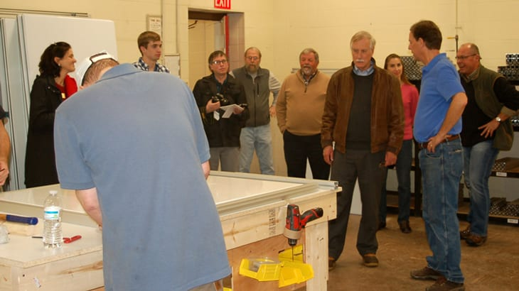 Sen. Angus King Tours TechPlace