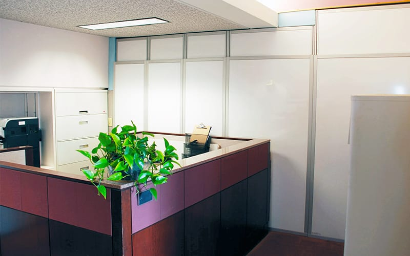 Hide Construction in Corporate Offices with Temporary Walls